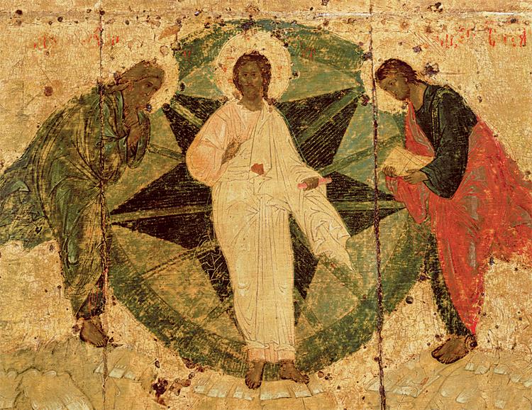 Христос и пророки Илия и Моисей