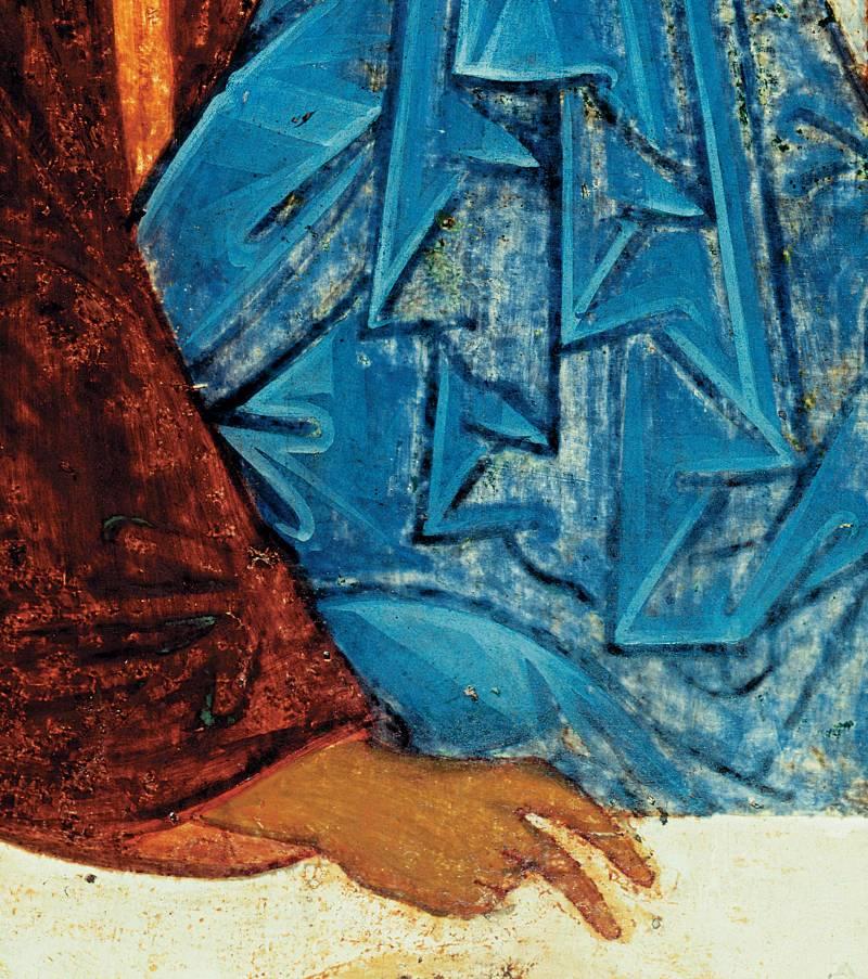 Рука и одеяние среднего ангела