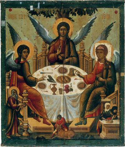 The Hospitality of Abraham (Old Testament Trinity)  Mid-14th