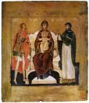 The Virgin of Pechora with Nikita the Warrior and the martyr Anastasia