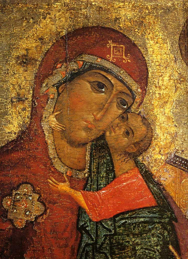 Die Antlitze der Gottesmutter und des Kindes