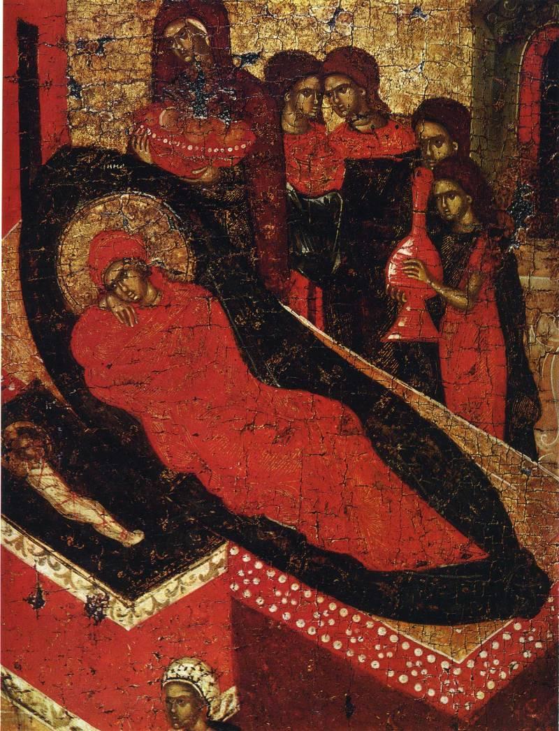 Святая Анна на ложе
