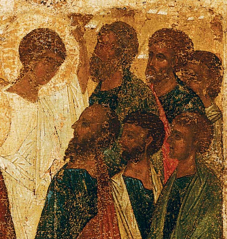 Лики апостолов и ангела