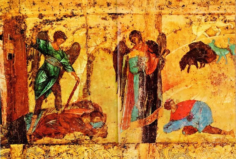 Клейма «Пророчество Иезекииля» и «Видение Даниила»