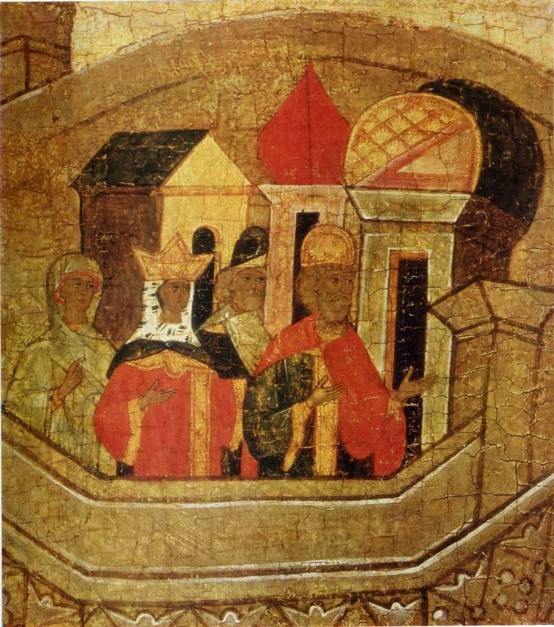 Родители царевны на башне