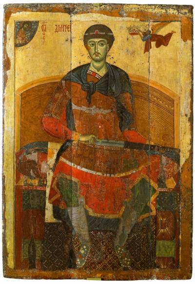 Дмитрий Солунский на троне