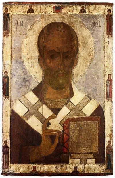 Николай Чудотворец  (поясной) с избранными святыми