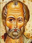 [Илл. с. 27] Никола. Деталь иконы «Никола», с избранными святыми. Середина XIII в. ГРМ (кат. № 1)