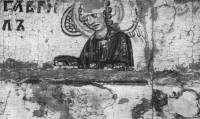 [Илл. с. 29] Архангел Гавриил. Деталь иконы «Никола», с избранными святыми. Середина XIII в. ГРМ (кат. № 1)