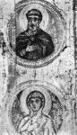 [Илл. с. 267] Кат. № 1. Деталь. Апостол Иуда (?) и Екатерина