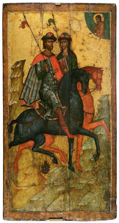 Борис и Глеб на конях