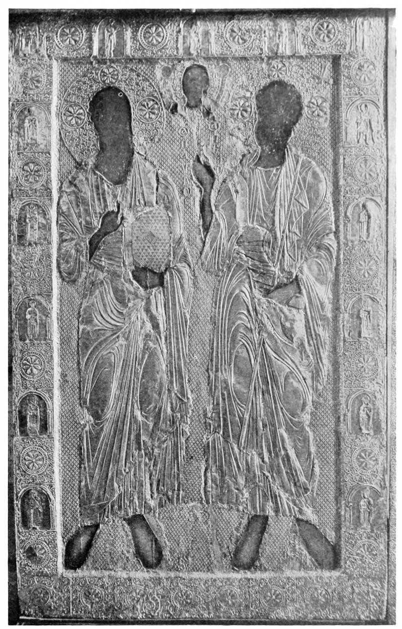 Икона «Апостолы Петр и Павел» в окладе