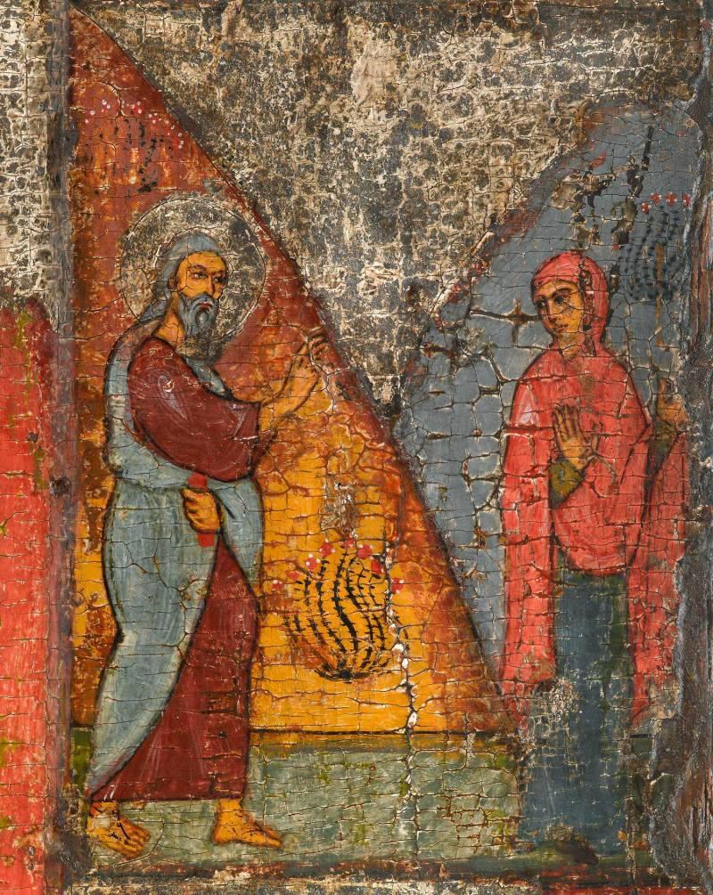 Илия встречает Сарептскую вдовицу