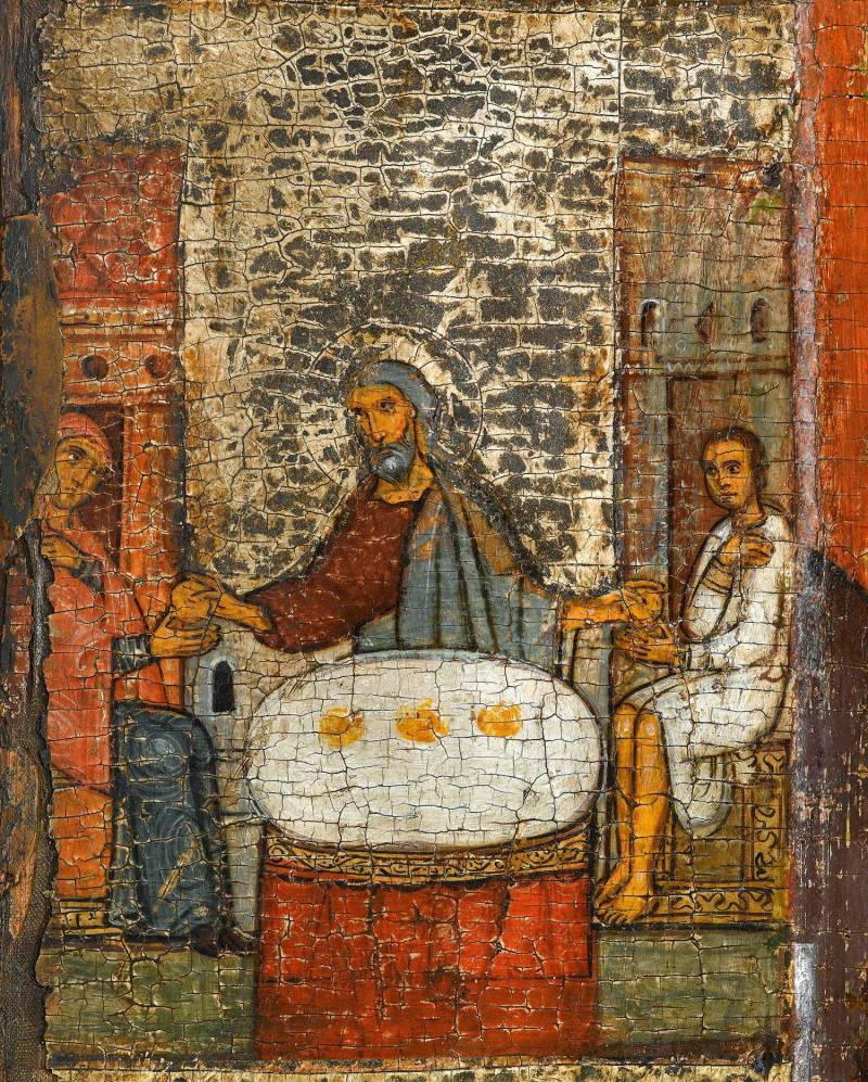 Илия в доме вдовицы умножает хлеба