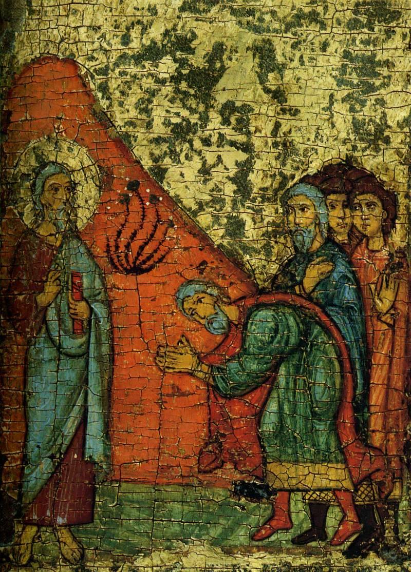 Авдий, посланник царя Ахава, встречает Илию