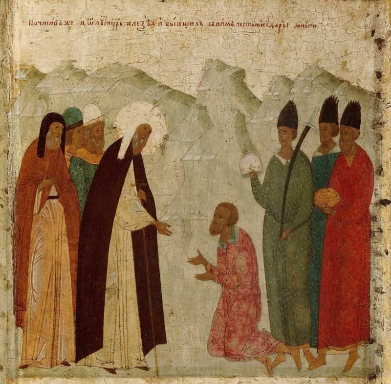 Прибытие Алексия в Орду и встреча с ханом Бердибеком