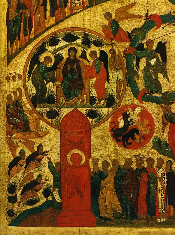 Богоматерь в раю. Райские врата и праведники. «Погибельные царства»