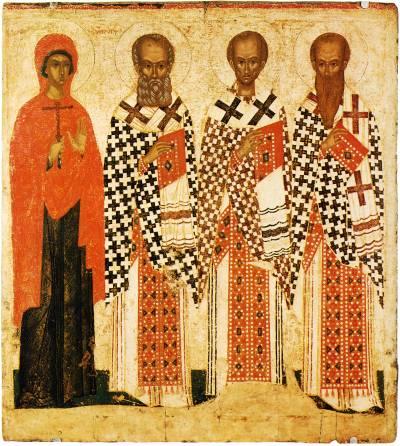 Параскева Пятница, Григорий Богослов, Иоанн Златоуст, Василий Великий