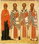 Paraskeva Pyatnitsa, Gregory the Theologian, John Chrysostom, Basil the Great