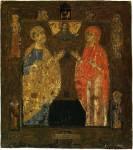 Апостол Петр и мученица Наталия (?) / Богоотцы Иоаким и Анна (?)