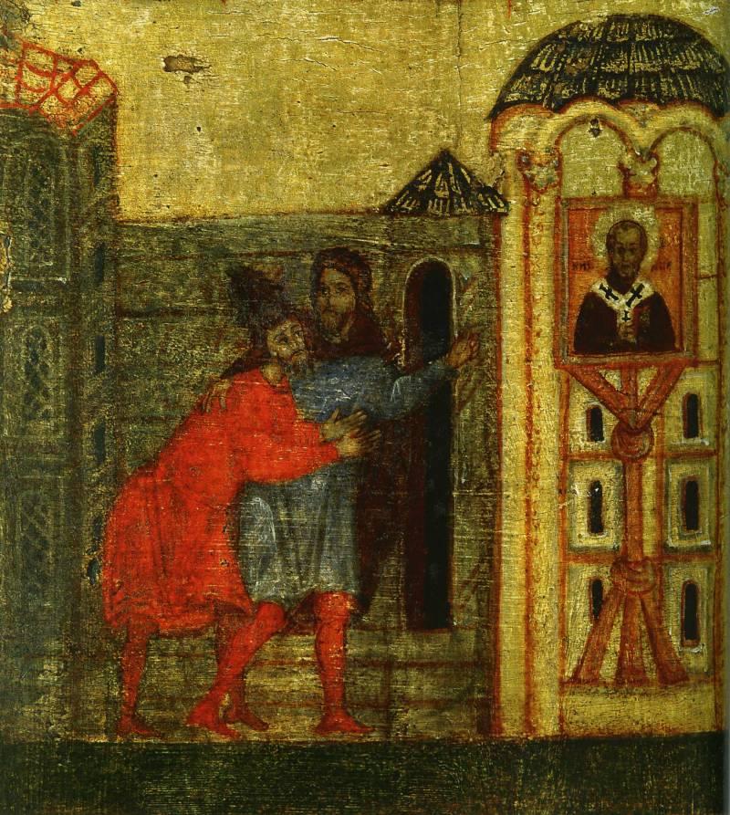 Клятва сарацина об уплате выкупа перед иконой свт. Николая