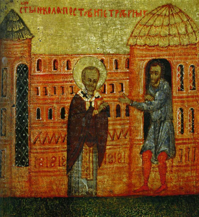 Свт. Николай поставляет Петра в Риме