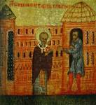 [Илл. с. 363] Кат. № 34. Клеймо. Никола поставляет Петра в Риме