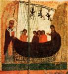 [Илл. с. 367] Кат. № 34. Клеймо. Чудо о корабельниках