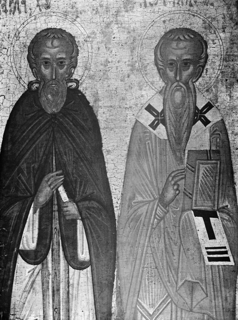 Варлаам Хутынский и Иоанн Милостивый,