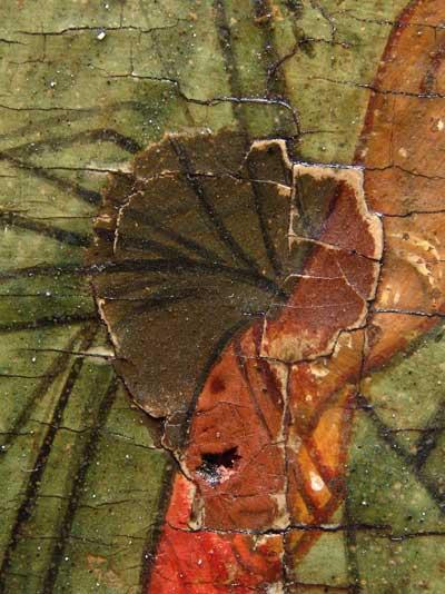 Чинка грунта со старой дописью на руке Власия