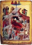 Geburt Christi mit den erwählten Heiligen