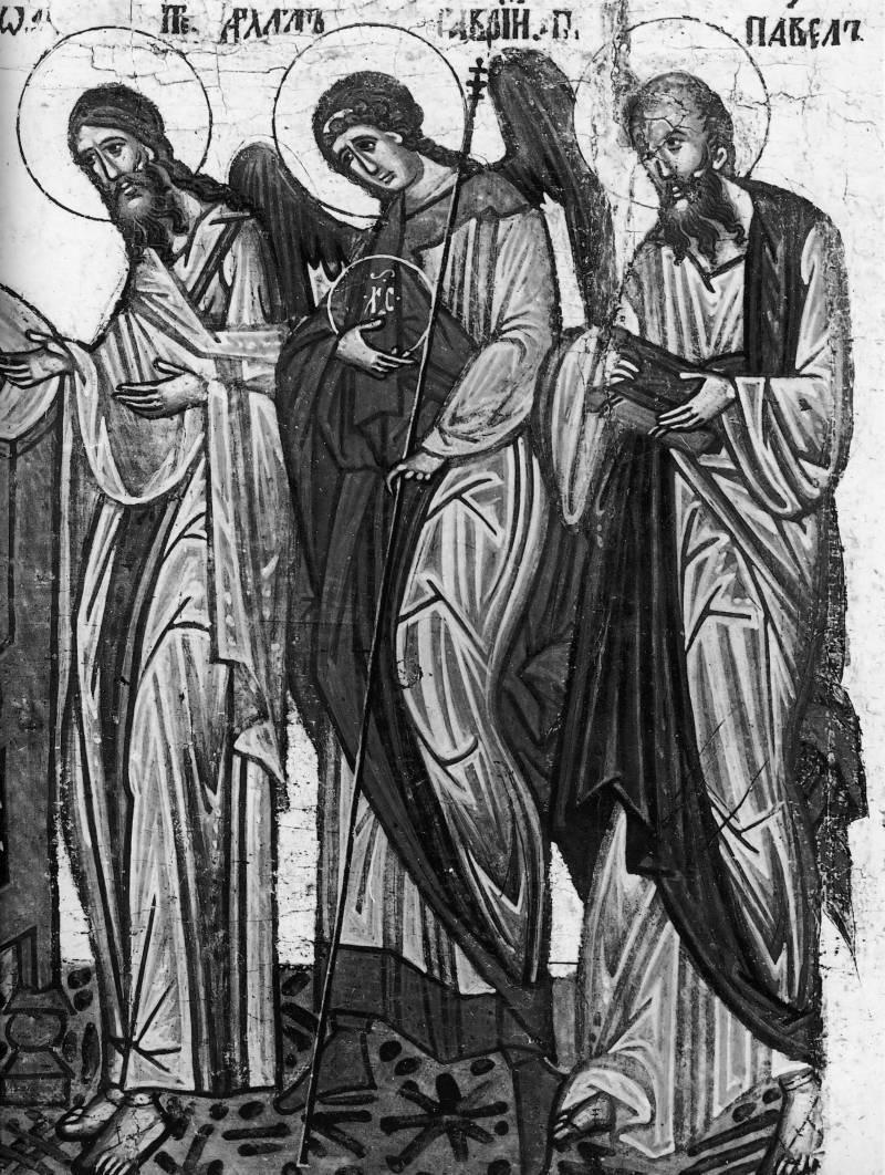 Иоанн Предтеча, архангел Гавриил, апостол Павел