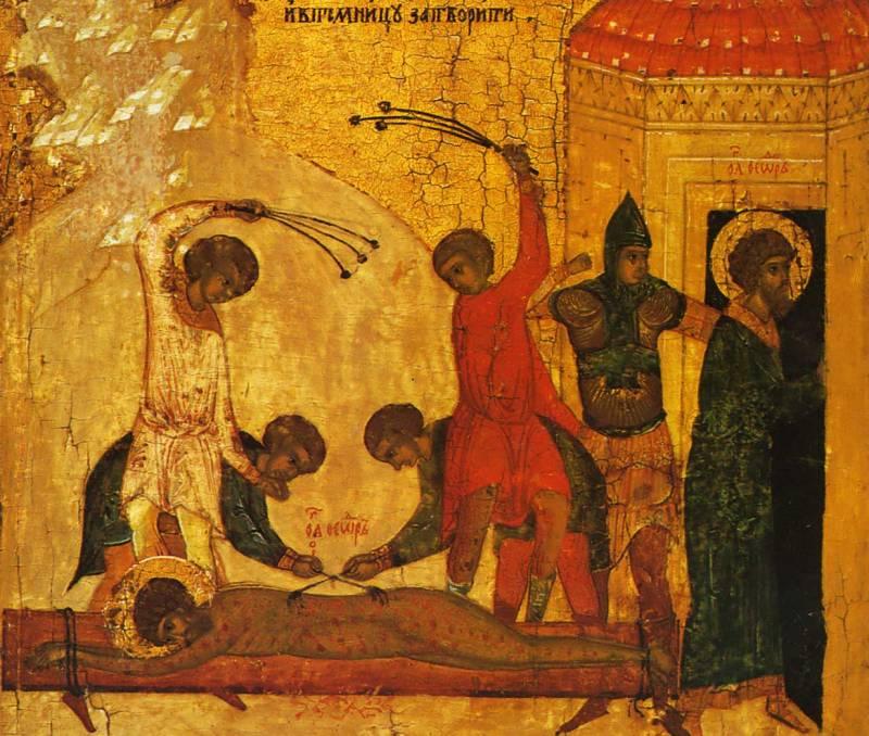 Мучение оловянными «шелыгами» и заключение в темницу