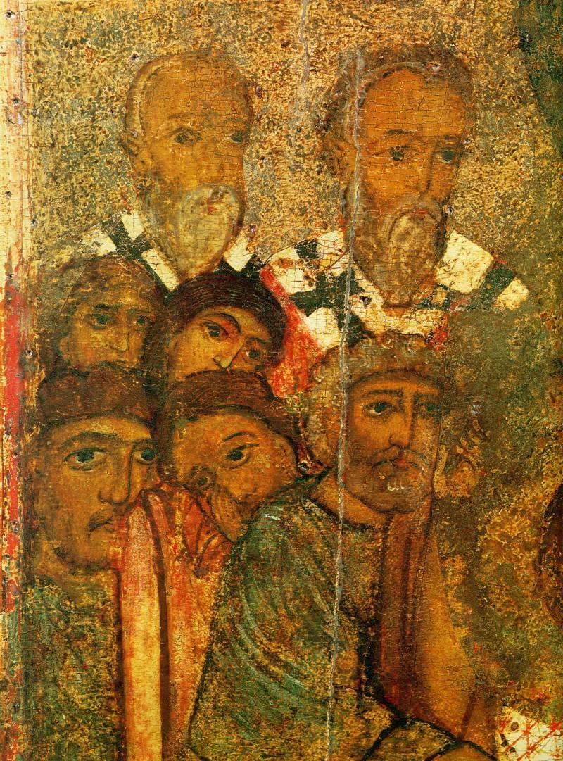 Апостолы у изголовья ложа Богоматери