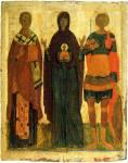 Богоматерь Великая Панагия, Никола и Георгий