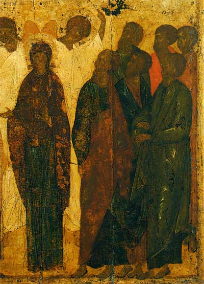 Богоматерь и апостолы