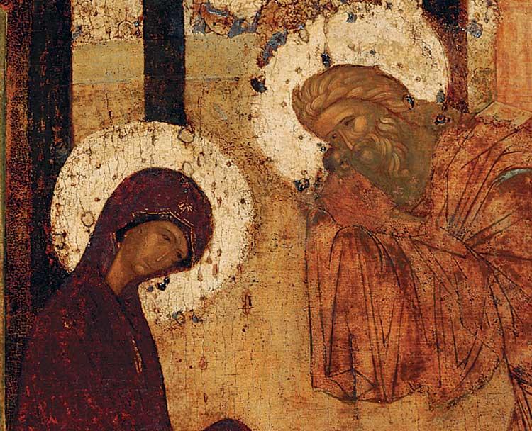 Богоматерь, Симеон Богоприимец и Младенец Христос