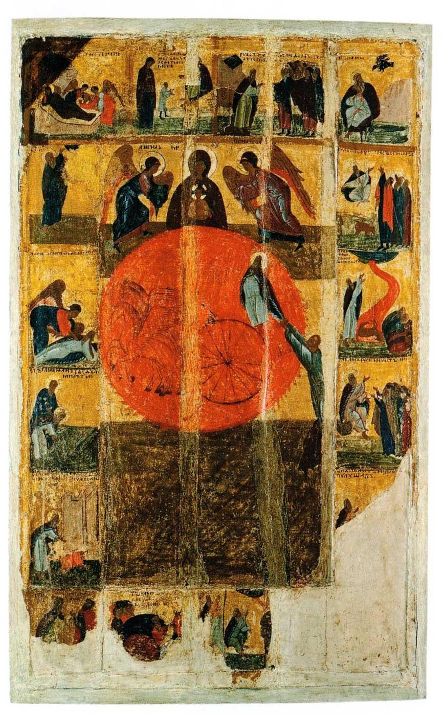 Огненное восхождение пророка Илии, с житием
