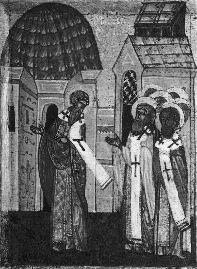 Ипатий наставляет священников Гангры