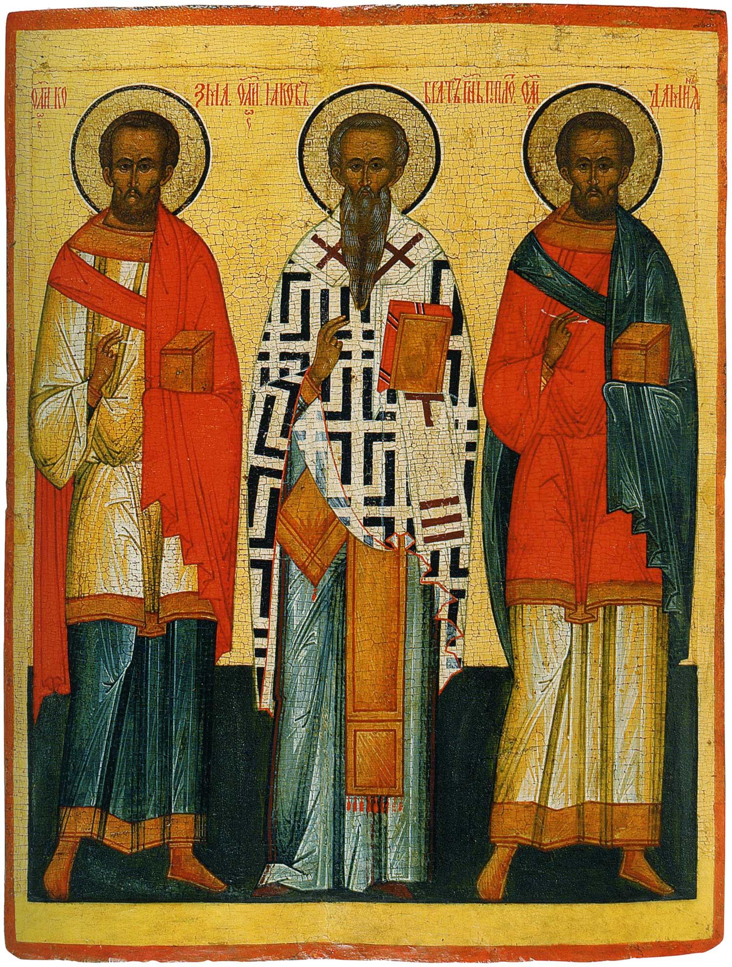 Erwählte Heilige: Jakob der Gottesbruder, Cosmas und Damianos