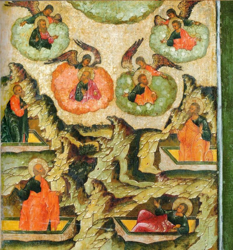 Пробуждение из гробов апостолов Андрея, Филиппа, Луки и Симона