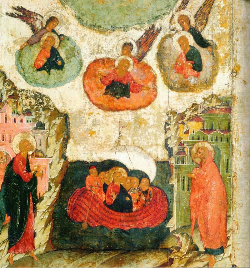 Путешествие апостолов по воде на кораблях
