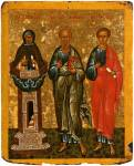 Simeon Stylites, John the Evangelist, Philip the Apostle