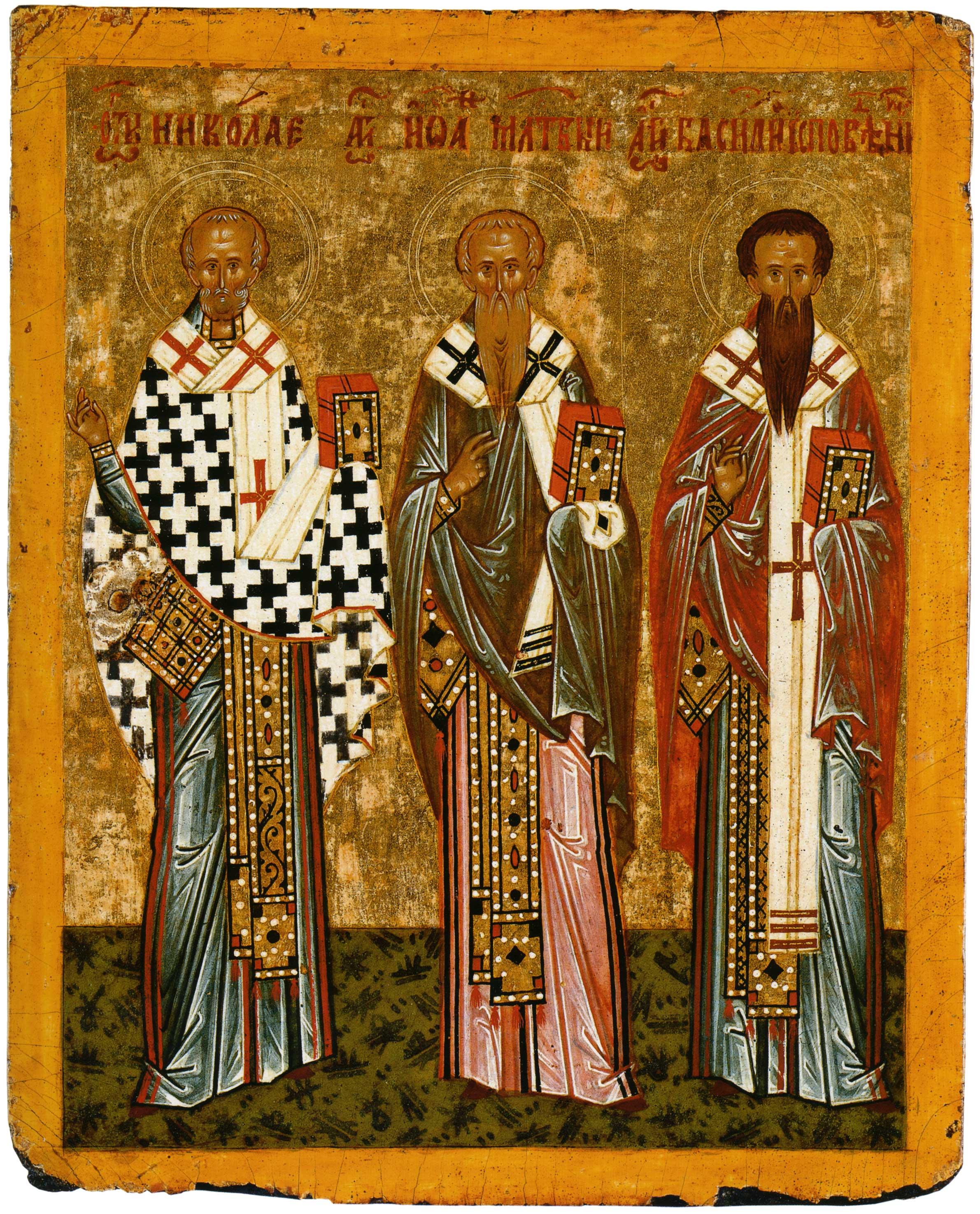 Nikolaus von Myra, Johannes, der Almosengeber, Basil, der Bekenner