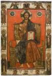 Erlöser auf dem Thron mit den erwählten Heiligen