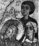 [Илл. с. 281] Кат. № 8. Деталь. Адам, Ева и Авель. (Снимок до удаления оклада)