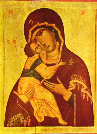 Владимирская икона божией матери, размер: 7х9 см