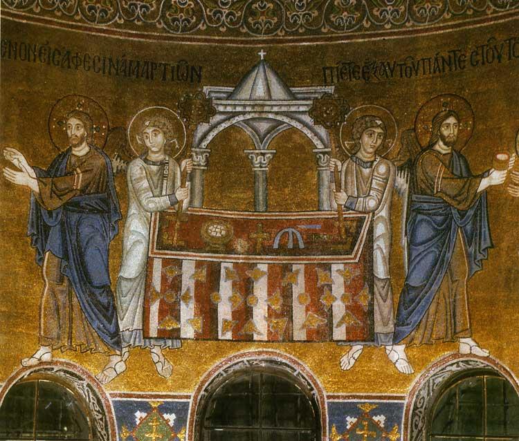 Престол с киворием и ангелами