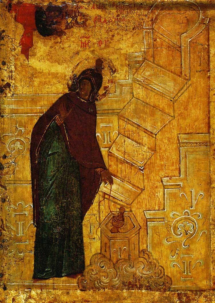 Икос 1: «Ангел предстатель...» (Благовещение у кладезя)
