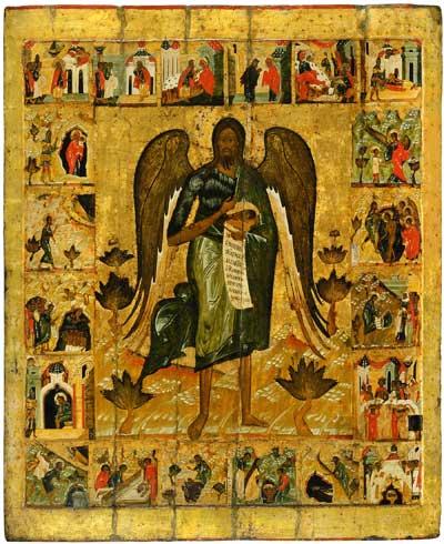 Иоанн Предтеча Ангел Пустыни, с житием в 20 клеймах